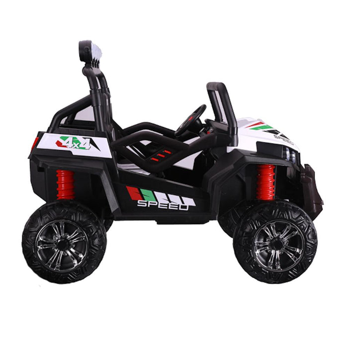 Big 2-Seat Trail-Cat 24v Kids Ride-On Buggy w/ Remote - White - Kids Car Sales
