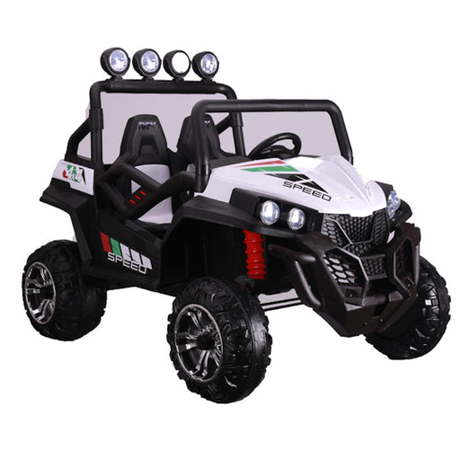 Kids Car Sales Big 2-Seat Trail-Cat 24v Kids Ride-On Buggy w/ Remote - White BJS2588-1-WHI