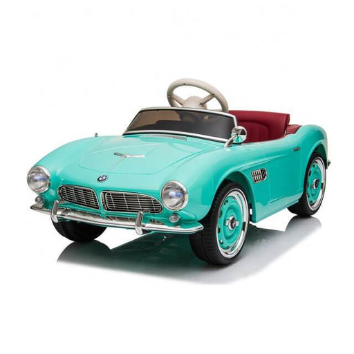 BMW 507 Roadster 1950's 12v Kids Ride-On Car w/ Remote - Green - Kids Car Sales