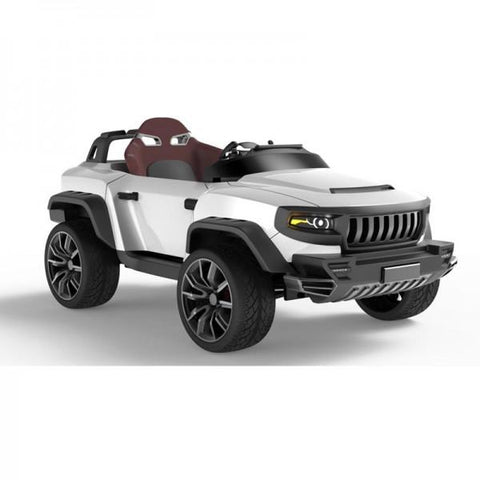 Henes Broon White T870 4WD 24v Kids Ride On Luxury SUV With Tablet PC