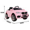 Image of BMW X5 Inspired Pink 12v Ride-On Kids Car - Kids Car Sales