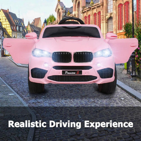 BMW X5 Inspired Pink 12v Ride-On Kids Car - Kids Car Sales