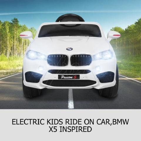 BMW X5 Inspired White 12v Ride-On Kids Car - Kids Car Sales
