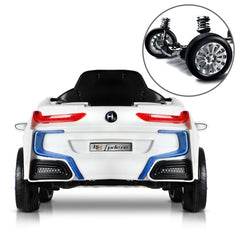 BMW i8 Licensed White 12v Ride-On Kids Car