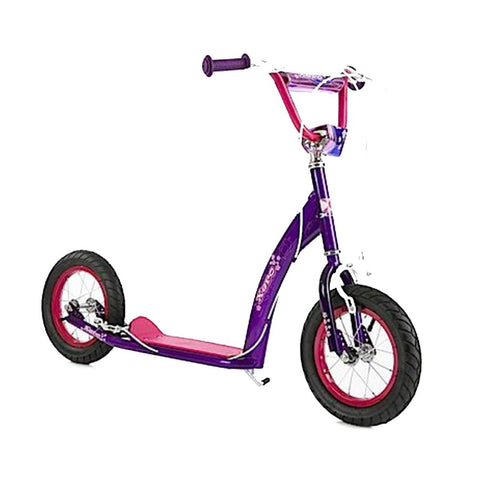 BMX Purple Racing Scooter With Large 30cm Wheels