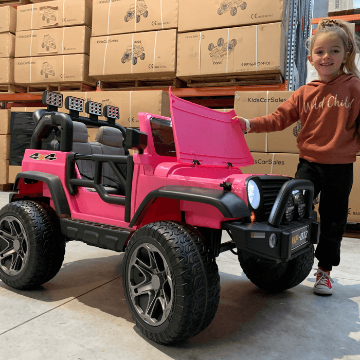 Kids Car Sales Big 2-Seat Beach-Cruiser 12v Kids Ride-On SUV w/ Remote - Pink (Open Box) BJP012-PIN