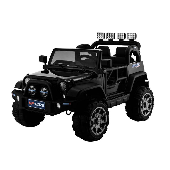 Big 2-Seat Beach-Cruiser 12v Kids Ride-On SUV w/ Remote - Black - Kids Car Sales