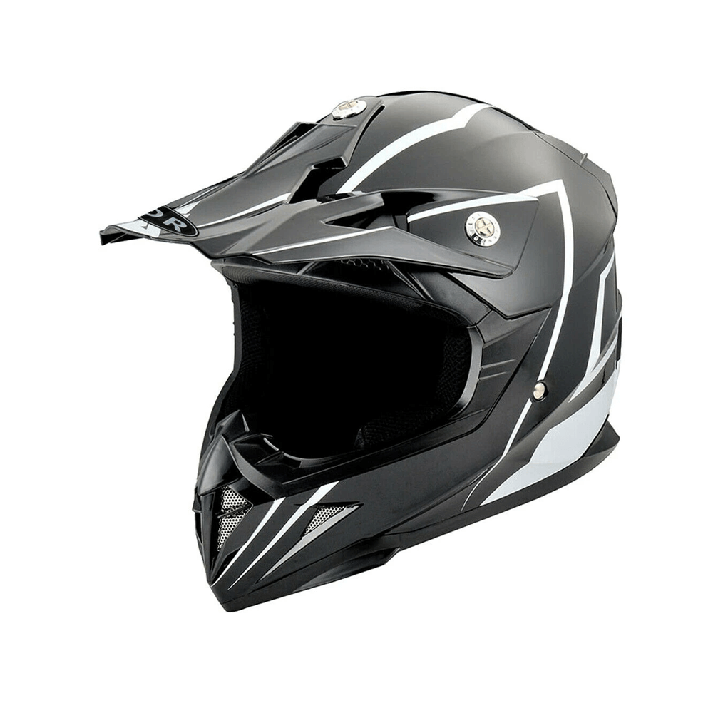TDRMOTO Black / Small (47-48cm) TRDMOTO Kids Full-Face Motorbike/ATV Helmet TP440BLK