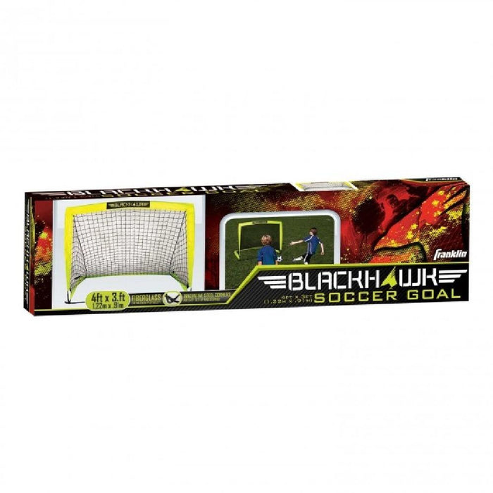Blackhawk Hi-Vis Fibreglass Soccer Goal & Net - Kids Car Sales