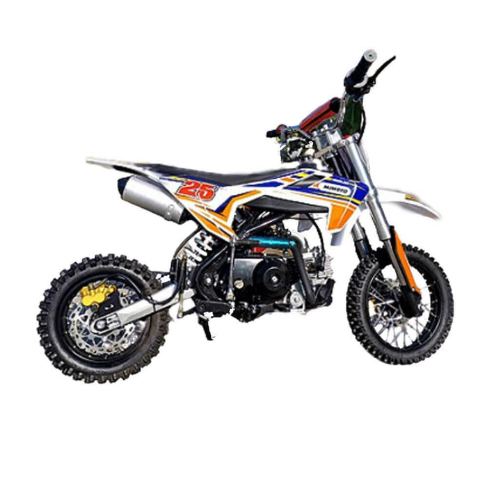 MJM MJM 70cc Petrol Powered 4-Stroke Semi-Auto Kids Dirt Bike - Orange MJM-70DB-ORA