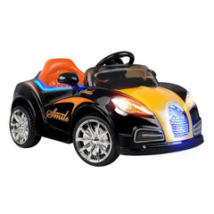 Bugatti Inspired Black 12v Ride-On Kids Car