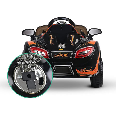 Bugatti Inspired Black 12v Ride-On Kids Car - Kids Car Sales