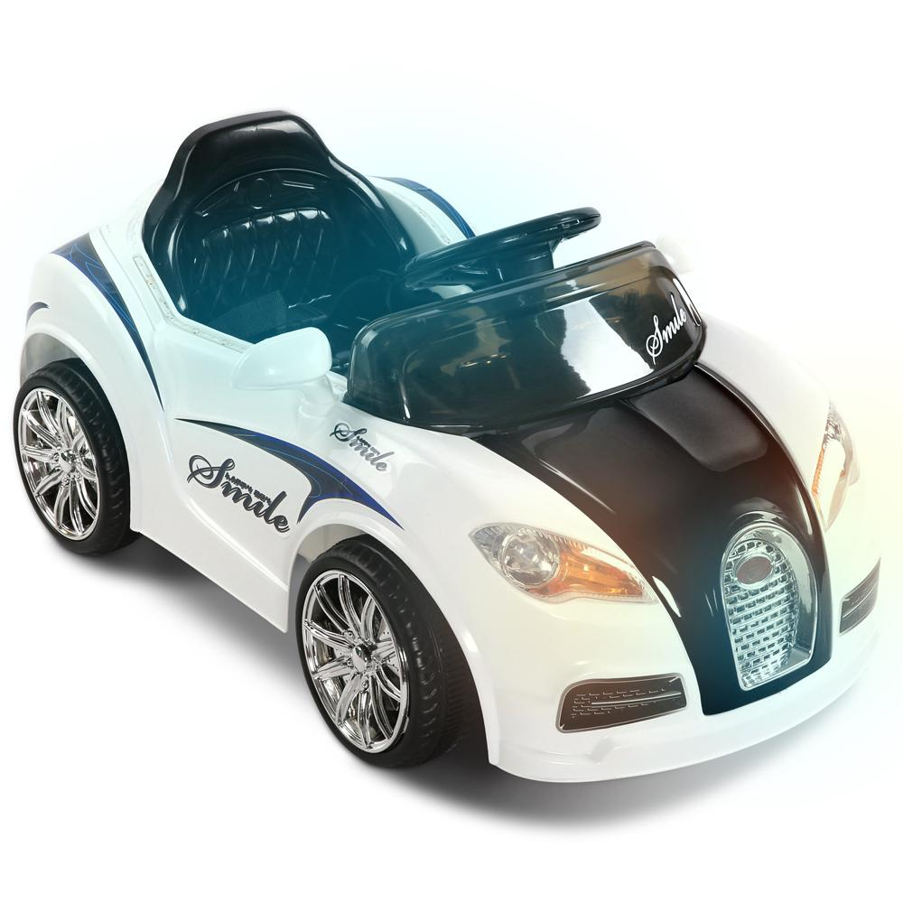 Unbranded Bugatti Inspired White 12v Ride-On Kids Car RCAR-BUGAT-BKWH