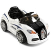 Image of Bugatti Inspired White 12v Ride-On Kids Car