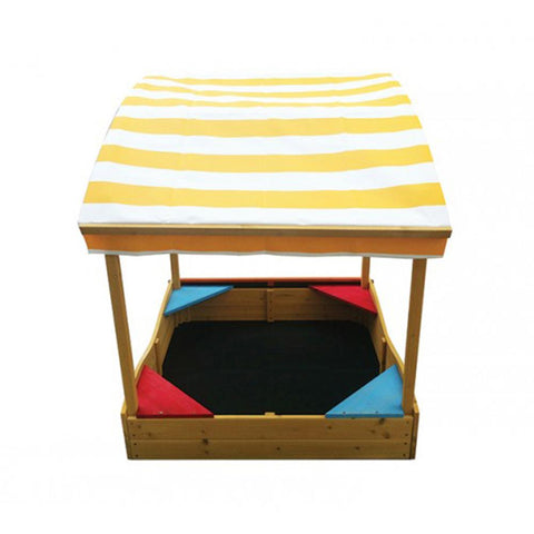 Captain Timber Sand and Shade Sandpit with Canopy - Kids Car Sales