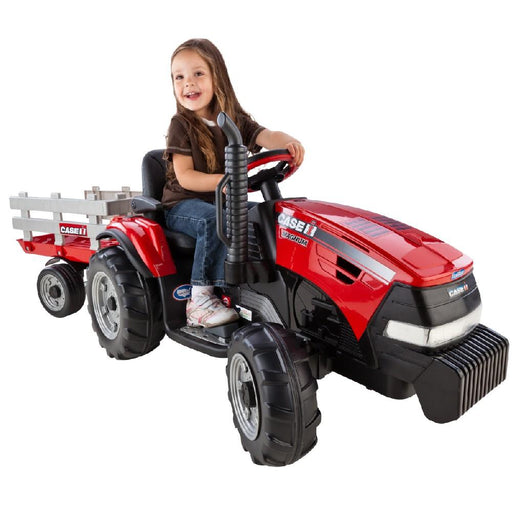 Case Case IH Magnum Battery Operated Red 12v Kids Ride On Tractor & Trailer IGOR0055 (44060)