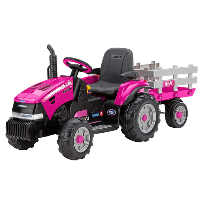 Case Case IH Magnum Pink 12v Kids Ride On Tractor with Trailer IGOR0067 (44065)