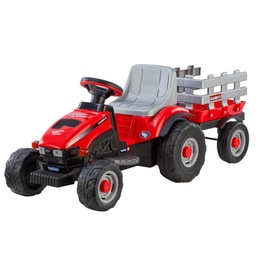 Case Lil' Power 6v Kids Ride On Tractor with Trailer - Kids Car Sales