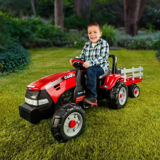 Case Pedal Powered Red Tractor and Trailer Set - Kids Car Sales