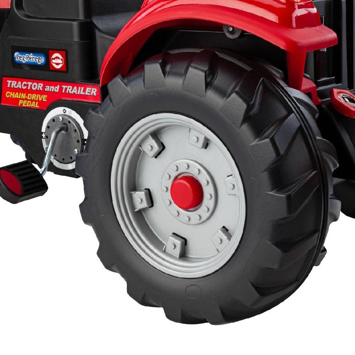 Case Case Pedal Powered Red Tractor and Trailer Set IGCD0554 (44062)