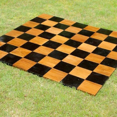Teak 30cm Timber Giant Chess Set