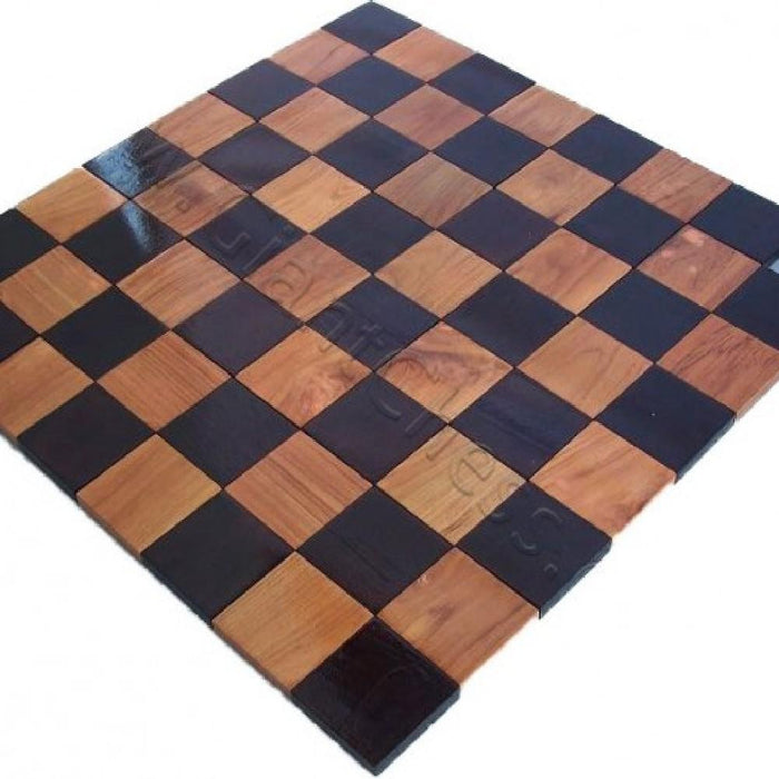 Teak 20cm Timber Giant Chess Set