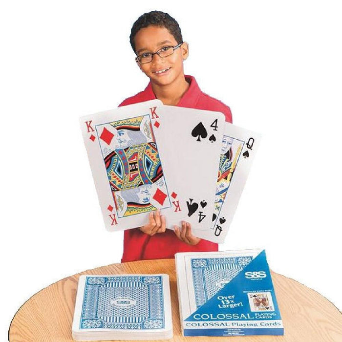 Colossal Playing Cards 36cm x 26cm - Kids Car Sales