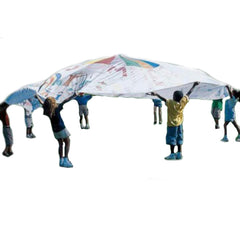 Image of Colour-Me-In White Parachute Play Parachute - Various Sizes