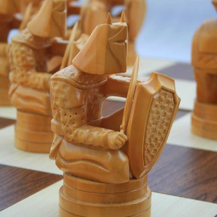 Conquest 20cm Timber Giant Chess Set - Kids Car Sales