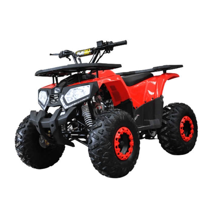 Motoworks Red Motoworks 150cc Petrol Powered 4-Stroke Raider Kids Quad Bike MOT-150ATV-RA-RED