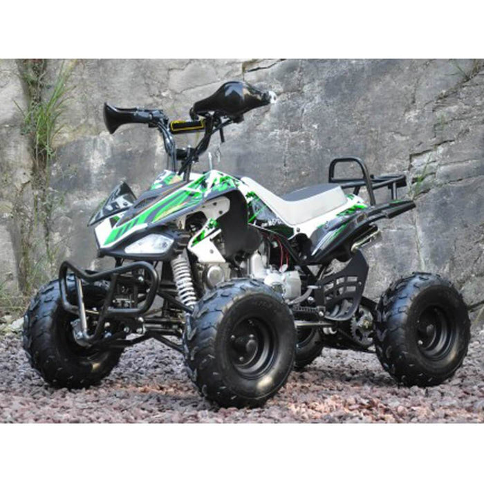 Motoworks 125cc Petrol-Powered 4-Stroke Sports Quad Bike - Green - Kids Car Sales