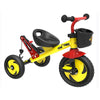 Image of Eurotrike Kids Tow Trike - Yellow, Red & Black - Kids Car Sales