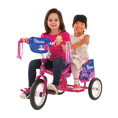 Eurotrike Pink Princess Kids Tandem Trike - Kids Car Sales