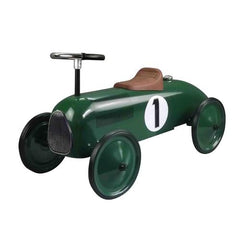 British Racing Green Metal Vintage Speedster Kids Ride On Car - Kids Car Sales