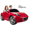 Image of Feber Ferrari California Red 12v Two Seat Ride-On Kids Car - Kids Car Sales