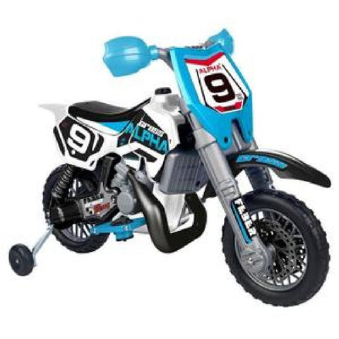 Feber Moto X Alpha Blue 6V Ride-On Kids Motorbike - Kids Car Sales