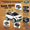 Image of Feber Range Rover Sport Grey 12v Two Seat Ride-On Kids Car - Kids Car Sales
