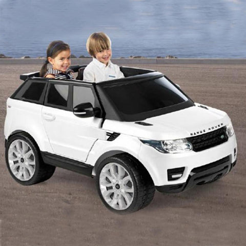 Feber Range Rover Sport White 12v Two Seat Ride-On Kids Car - Kids Car Sales