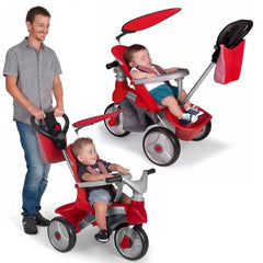 Feber Red Easy Evolution Baby 3-in-1 Pusher, Trike & Balance Bike
