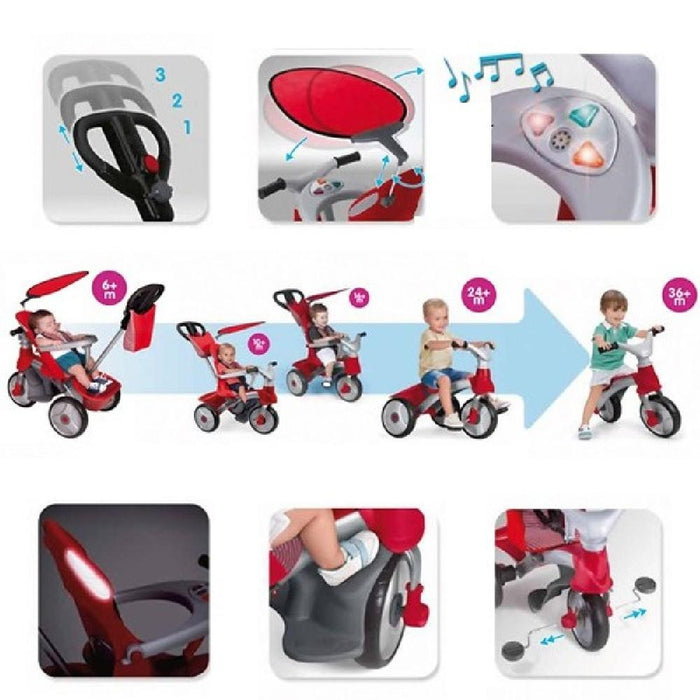 Feber Red Easy Evolution Baby 3-in-1 Pusher, Trike & Balance Bike - Kids Car Sales
