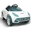 Image of Ferrari F12 Inspired White 6v Ride-On Kids Car