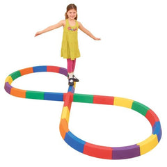 Figure of Eight Modular Rainbow Balance Beams - Kids Car Sales
