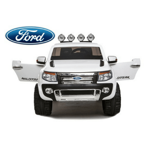 Ford Ranger 4x4 Pickup Truck White 12v Kids Ride-On Car + Remote - Kids Car Sales
