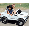 Image of Ford Ranger Pickup Truck White 12v Kids Ride-On Car + Remote - Kids Car Sales