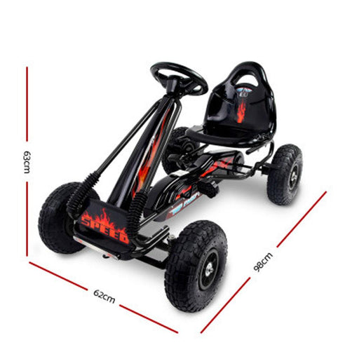 Unbranded Kids Ride On Outdoor Pedal Go Kart in Various Colours
