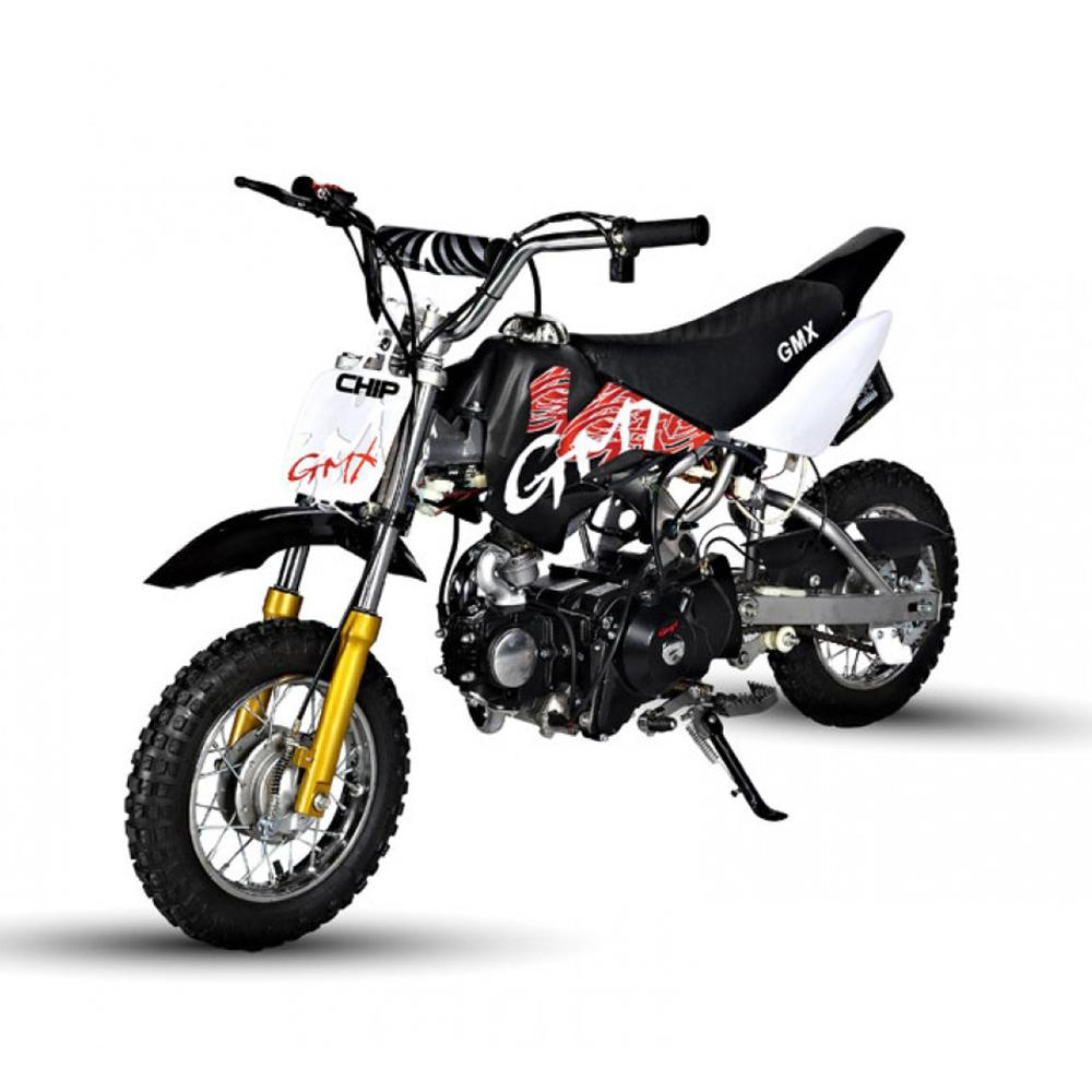 GMX Black GMX Chip 50cc Petrol-Powered 4-Stroke Dirt Bike GE-PU50-BLK