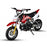 GMX Red GMX Chip 50cc Petrol-Powered 4-Stroke Dirt Bike GE-PU50-RED