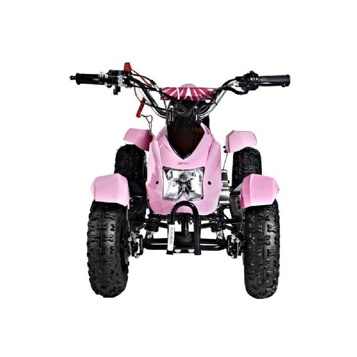 GMX GMX Junior 49cc Petrol-Powered 2-Stroke Kids Quad Bike - Pink GE-YA49D-PNK