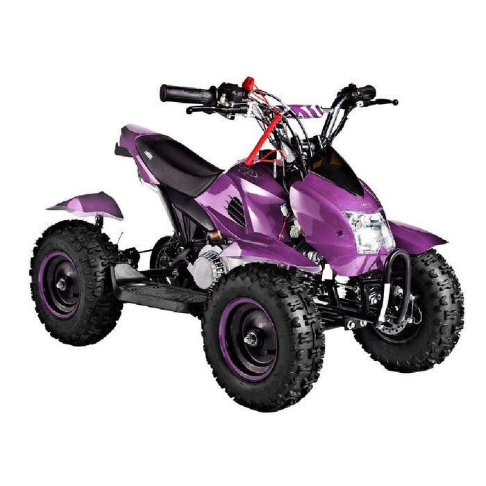 GMX Purple GMX Junior 49cc Petrol-Powered 2-Stroke Kids Quad Bike GE-YA49D-PUR
