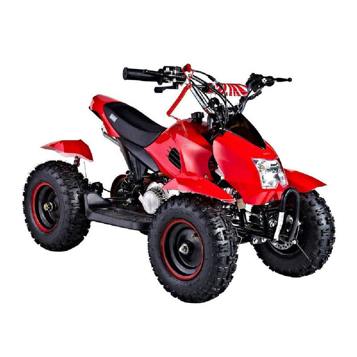 GMX Red GMX Junior 49cc Petrol-Powered 2-Stroke Kids Quad Bike GE-YA49D-RED